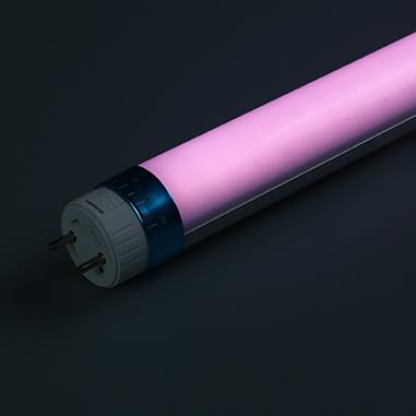 Pink plant LED tube