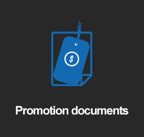 Promotion documents