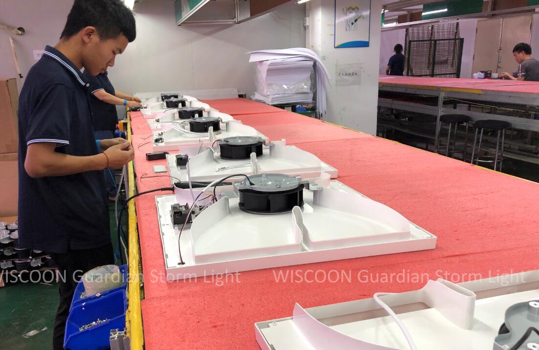 20,000pcs order Antiseptic and Anti-virus Air Cleaning LED panel light Antiviral LED Panel